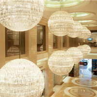供应定制酒店别墅商场大型非标工程水晶灯具