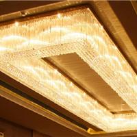 意品灯饰酒店别墅非标定制工程水晶吸顶灯具