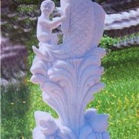 全国供应石雕鱼,广场小区石雕鱼喷泉娃娃鱼