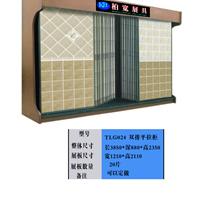 供应双排平推式瓷砖展柜,陶瓷砖展柜,展架