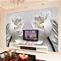 无缝墙布 卧室沙发电视背景墙 个性定制