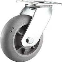 供应重型圆边超静音脚轮 超级人造胶TPR脚轮