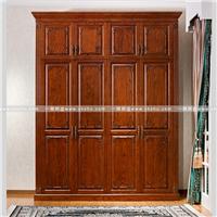 实木整体衣柜多款木材可选