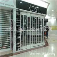 供应铝合金折叠水晶门/推拉式水晶折叠门