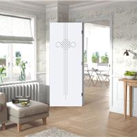 艺术浮雕白门 套装门 强化门 实木复合门