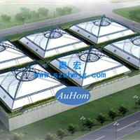 废水池反吊氟碳纤维膜|污水池加盖膜|奥宏