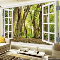 3D瓷膜无碳纯木原态背景墙