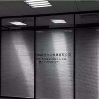 天津高档玻璃隔断,双玻璃百叶隔断,品质优