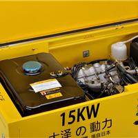 低噪音箱体式15kw汽油发电机