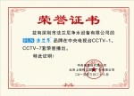 央视荣誉证书