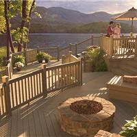 保定生态木塑木地板WPC木塑栅栏木塑廊架