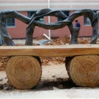 景观小品仿木栏杆仿木仿石桌椅凳垃圾桶动物雕塑设计与施工