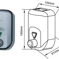 供应不锈钢手动皂液机 挤压式洗手液盒