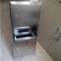 不锈钢组合式擦手纸箱 二合一暗装干手柜