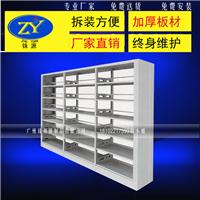 供应钢制图书架六层双面书架包安装包邮