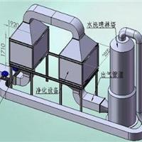 广东发电机尾气处理塔/316材质不锈钢喷淋塔