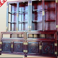 老榆木展示柜实木展柜货架货柜饰品柜玻璃柜