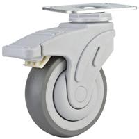 批发供应美式全塑超级人造胶静音医疗脚轮