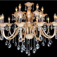 别墅大厅欧式蜡烛灯供应 大厅吊灯满就送