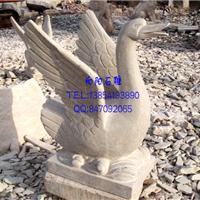 厂家直销石雕天鹅|黄锈石吐水天鹅|天鹅石雕
