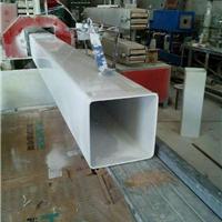 供应无毒PVC塑料水培管 PVC环保白色方管