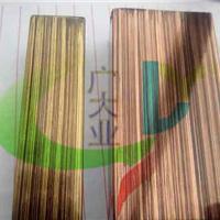 6米彩色不锈钢管 古铜色拉丝不锈钢管