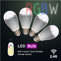 led智能灯泡 wifi无线遥控定时调光色七彩灯