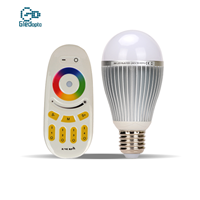 9W节能七彩灯泡RGBW无线分组遥控智能球泡