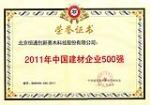 2011年中国建材企业500强