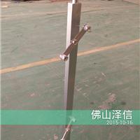 :新型不锈钢方管立柱-穿管夹玻璃不锈钢立柱