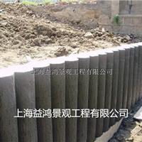 大量销售堤坝挡土墙,仿木桩,水泥仿木桩