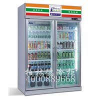 超市四门保鲜柜饮料冷藏三门冷柜