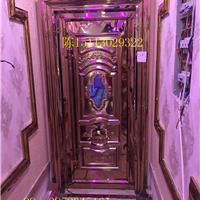 长沙娱乐会所装修用玫瑰金不锈钢压花门板