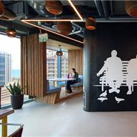 郑州大型高档办公室装修设计实景高清效果图