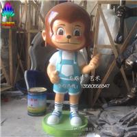 供应玻璃钢卡通猴子雕塑 猴年装饰美陈雕塑