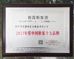 2013年度中国十大软床品牌