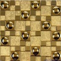 佛山厂家直供金黄色金属 不锈钢马赛克1m?起