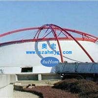 污水池加盖|钢支撑反吊UV光固纤维膜|奥宏