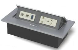 深圳桌面式强电地插,可装网络,音视频接口