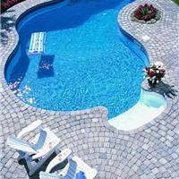 有保证的露天游泳池 从法国戴高乐开始