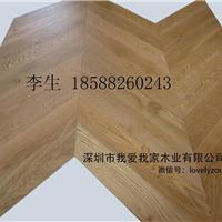 橡木人字拼地板/鱼骨纹/人字形多层地板生产