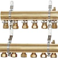 供应工程款单球分水器 单球阀地暖分水器