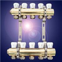 供应经济型手动温控黄铜分水器 地暖分水器