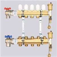 供应精品温控型黄铜分水器 智能型分集水器