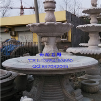 郑州石雕喷泉市场|黄锈石喷泉批发价格