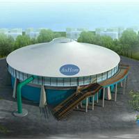 膜结构工程污水加盖|污水池加盖膜结构|奥宏