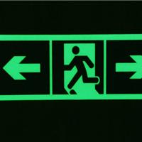 夜光发光安全出口指示牌超市紧急出口墙贴