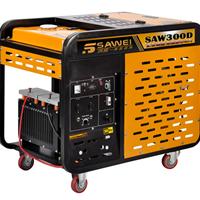 供应移动式带轮子300A柴油发电电焊机