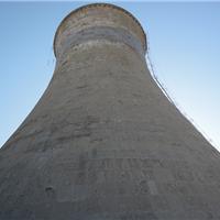 双曲线冷却塔混凝土缺损修补