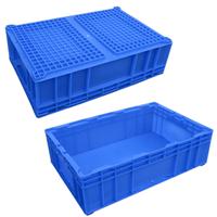 灰色蓝色塑料箱天津销售欧标塑料箱批发